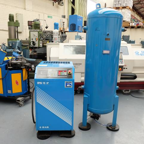 POWER SYSTEMS Model PS 15-8P Rotary Air Compressor